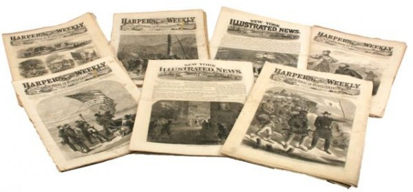 LOT OF HARPERS WEEKLY NEWSPAPERS CIVIL WAR