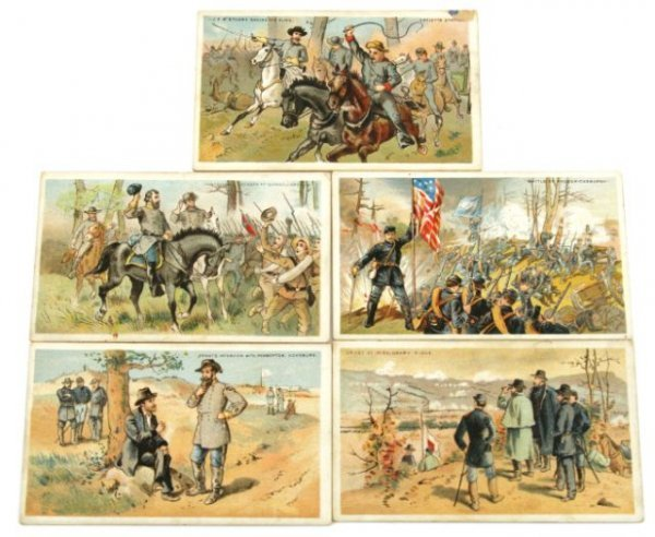 GAIL & AX TOBACCO CARDS CIVIL WAR BATTLE SCENES