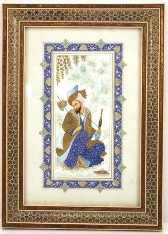 PERSIAN IRANIAN MINIATURE ON IVORY H ALI SAJJADI