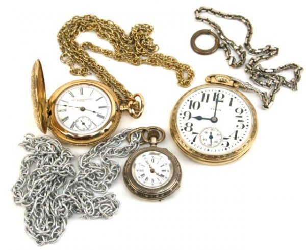 ANTIQUE POCKET WATCH RAILROAD SILVER LOT OF 3