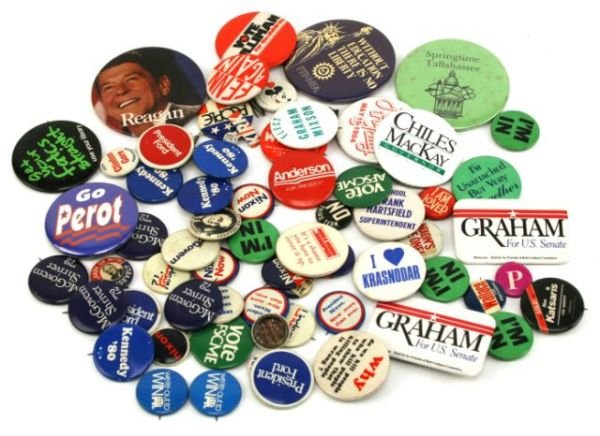 POLITICAL BUTTON COLLECTION ROOSEVELT KENNEDY