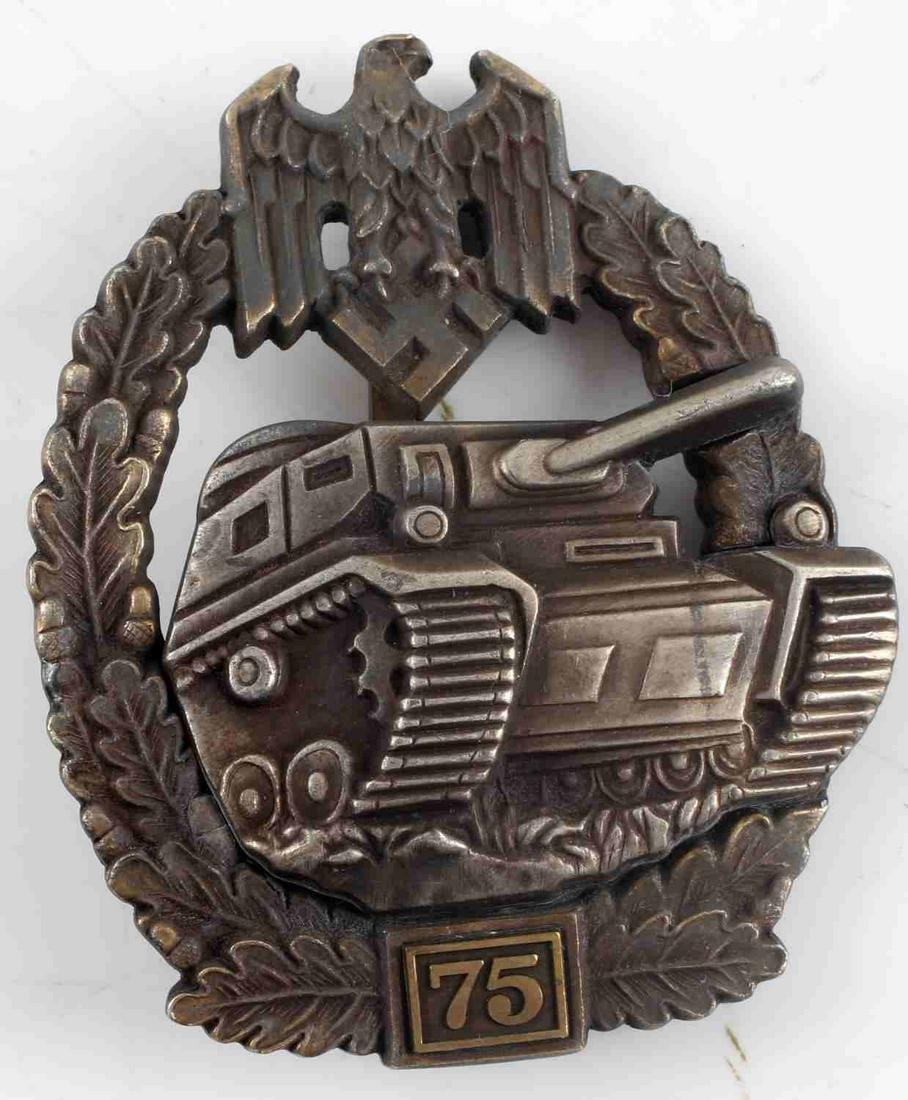 WWII GERMAN THIRD REICH PANZER ASSAULT BADGE SS