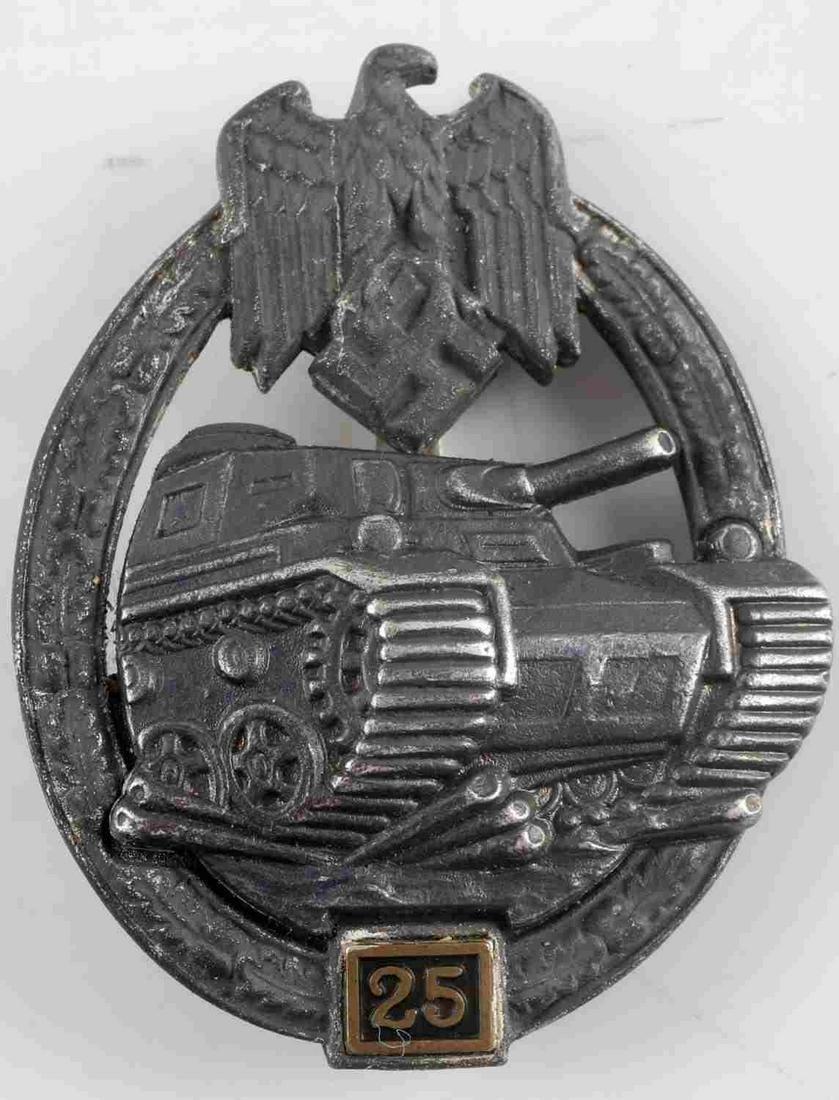 WWII GERMAN THIRD REICH SS PANZER ASSAULT BADGE