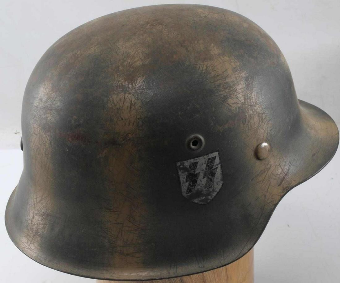 WWII GERMAN THIRD REICH WAFFEN SS CAMO HELMET