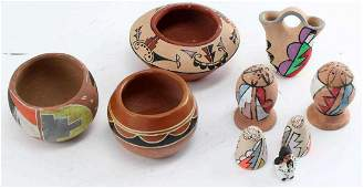 LOT NATIVE AMERICAN INDIAN SOUTHWEST CLAY POTTERY