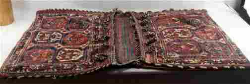 PERSIAN RUG BALUCH WOOL SADDLE BAGS W FIGURES
