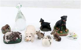 COLLECTOR CANINE DOG FIGURINES & GLASS ANIMALS