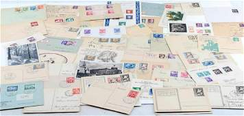 48 PC GERMAN WWII THIRD REICH POSTCARDS AND COVER LOT