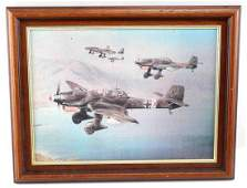 WWII THIRD REICH GERMAN PRINT JU 88 STUKAS BOMBING