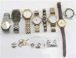 EIGHT MENS & WOMENS WRISTWATCHES SEIKO ARMITRON