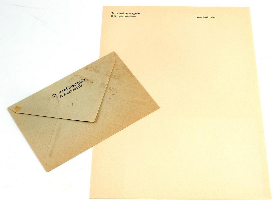 WW2 GERMAN AUSCHWITZ WAFFEN SS STATIONARY DOCUMENT