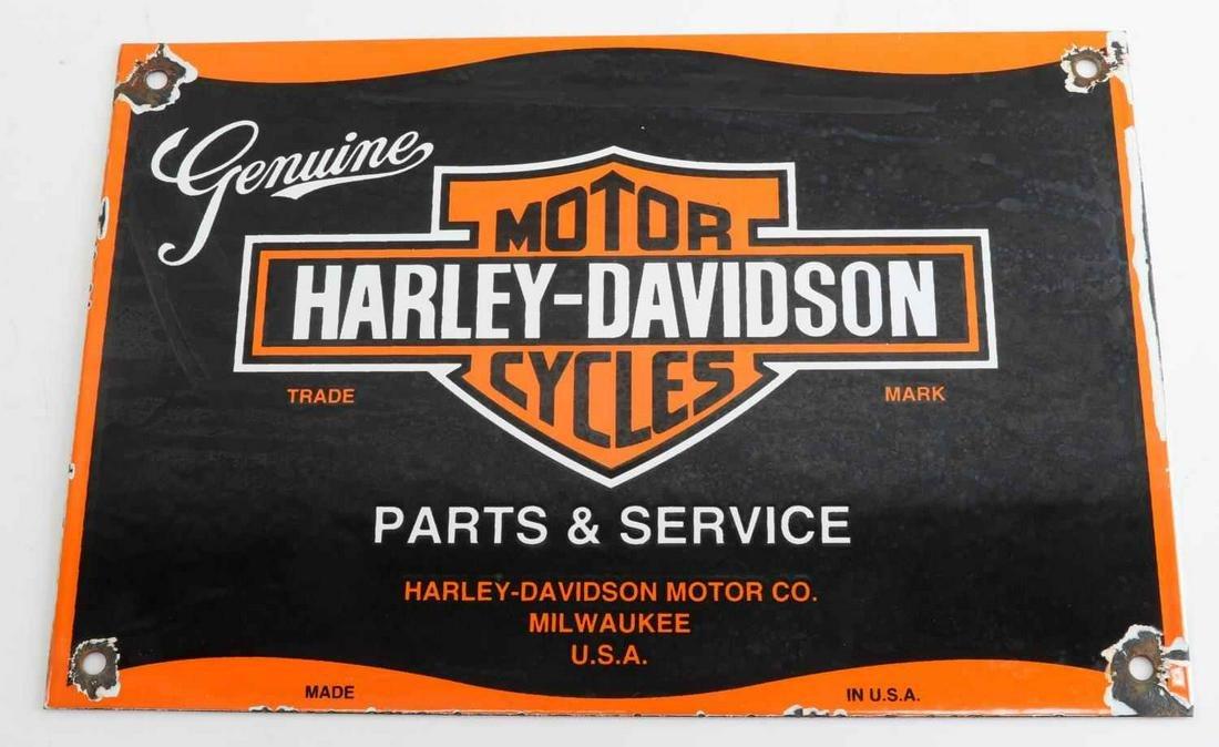 VINTAGE HARLEY DAVIDSON PORCELAIN ADVERTISING SIGN