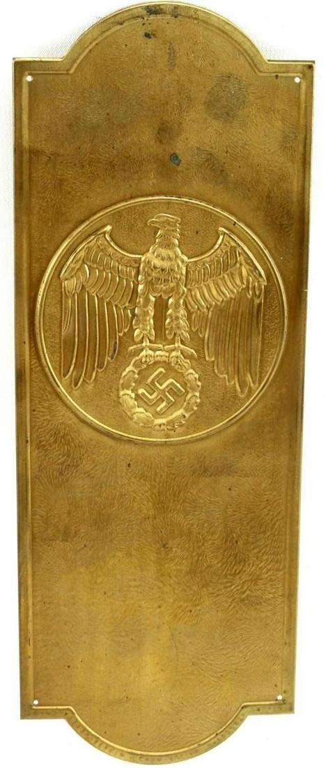 WWII THIRD REICH GERMAN HITLER CHANCELLERY PLAQUE