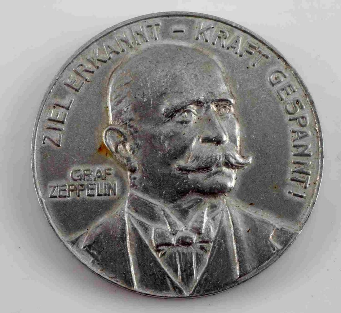 IMPERIAL GERMAN 1908 GRAF ZEPPELIN SOUVENIR TOKEN