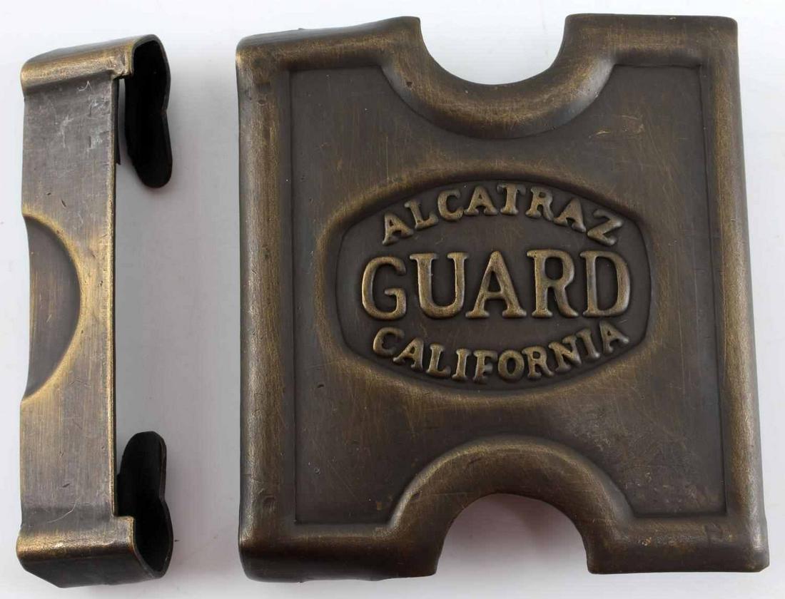 ALCATRAZ CALIFORNIA GUARD BELT BUCKLE ANSON MILLS