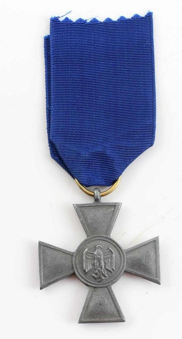 WWII THIRD REICH GERMAN 25 YEAR LONG SERVICE MEDAL