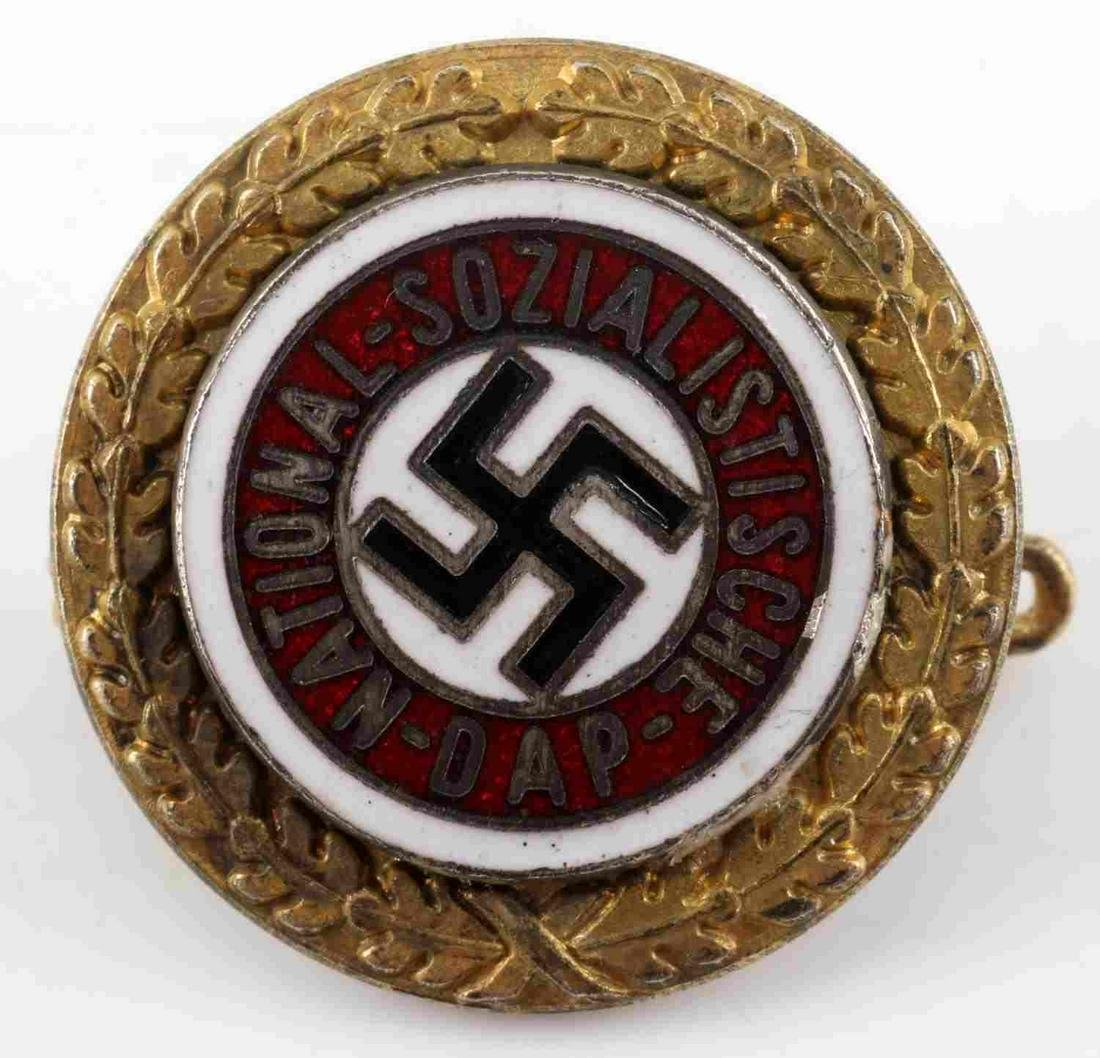 WWII GERMAN 3RD REICH NSDAP GOLDEN PARTY BADGE