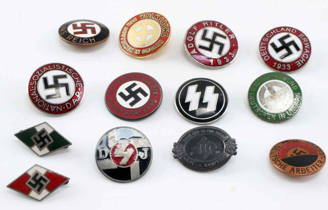 WWII GERMAN 3RD REICH NSDAP PARTY BADGE LOT OF 13