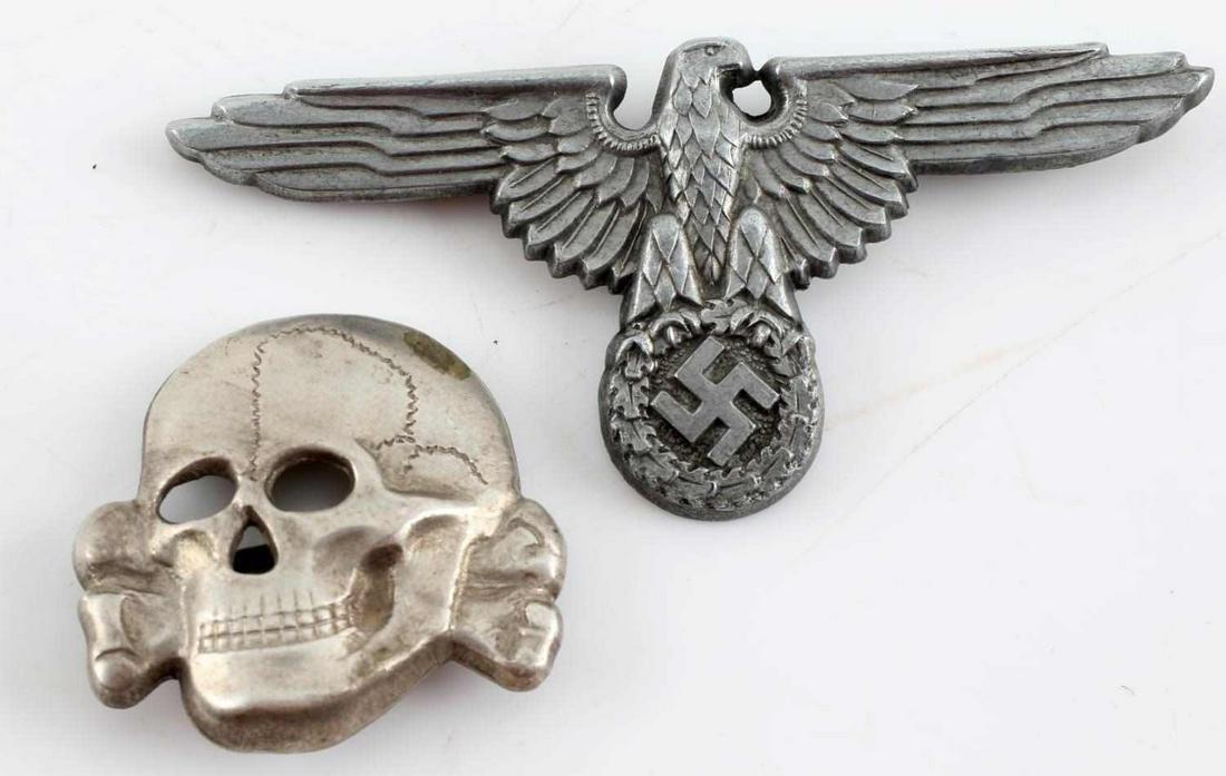 WWII GERMAN THIRD REICH WAFFEN SS VISOR CAP EAGLE