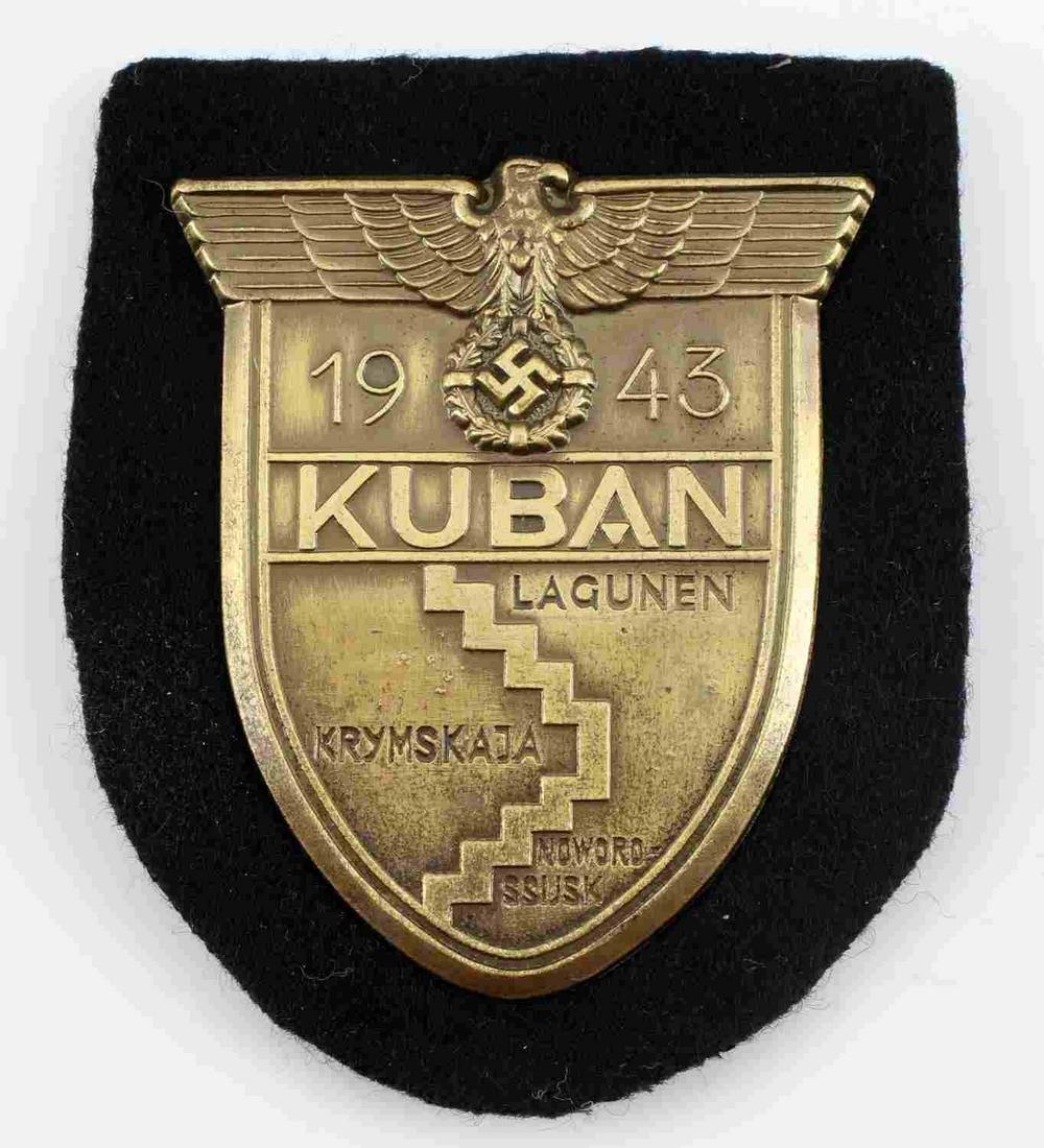 WWII GERMAN PANZER SS 1943 KUBAN SLEEVE SHIELD