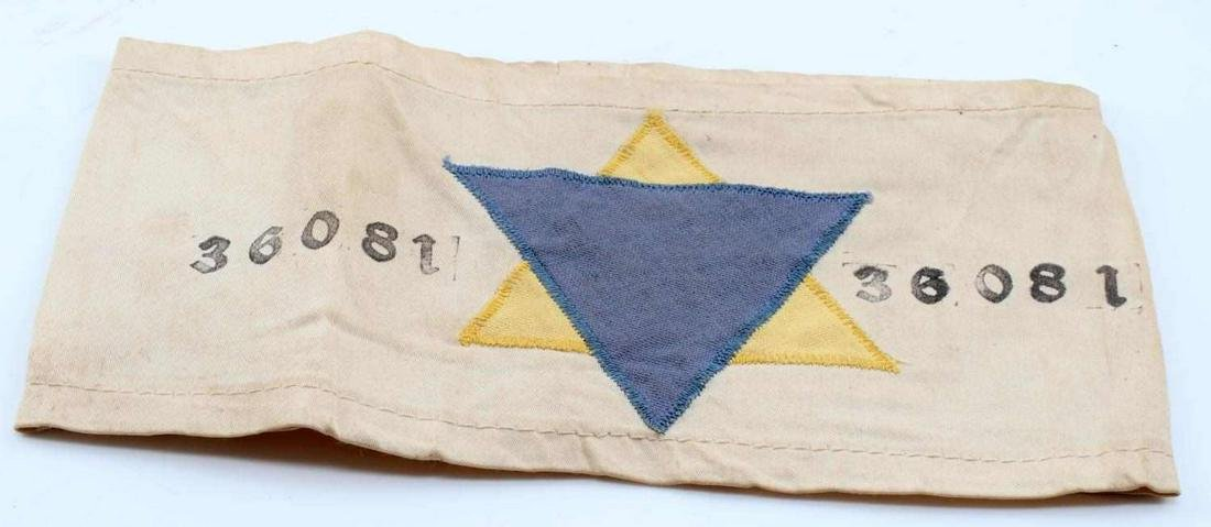 WWII GERMAN AUSCHWITZ CONCENTRATION CAMP ARM BAND