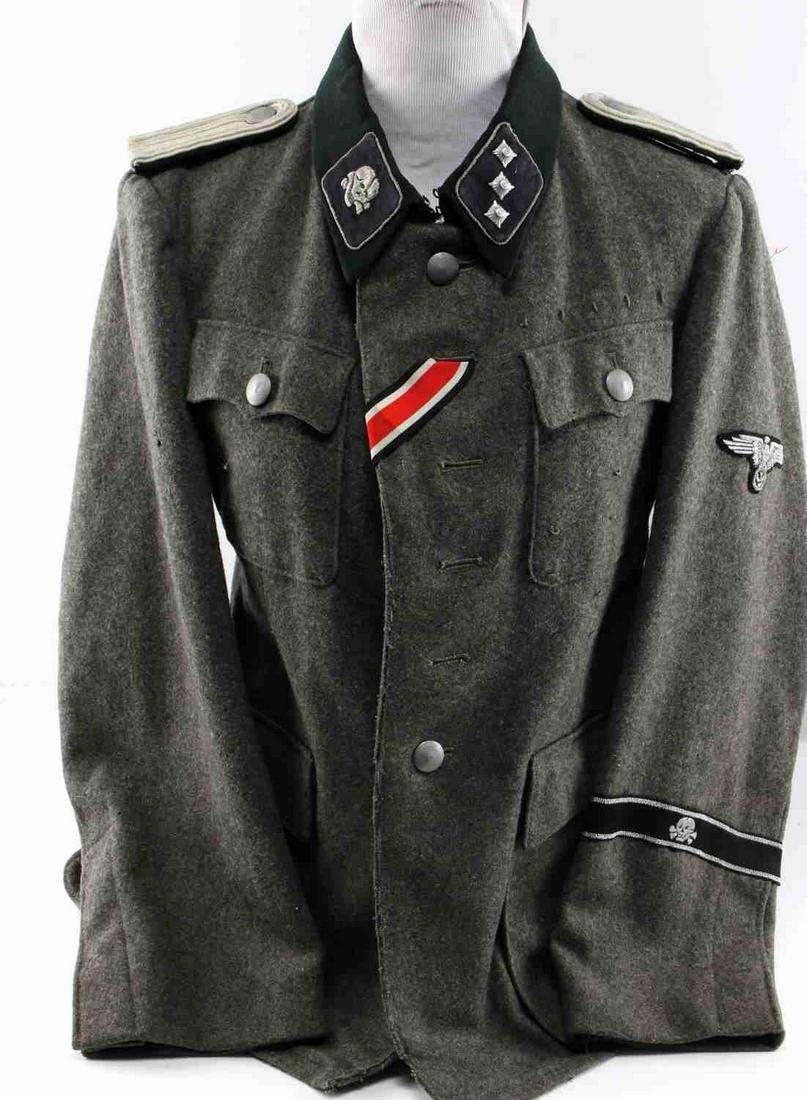 WWII GERMAN 3RD REICH TOTENKOPF SS OFFICER TUNIC
