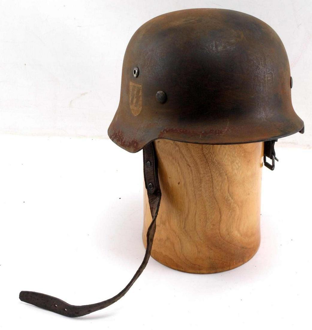 WWII GERMAN 3RD REICH WAFFEN SS HELMET WITH LINER