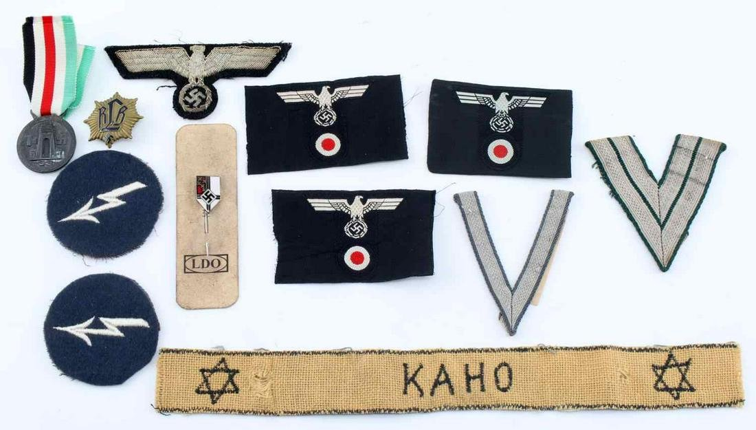 WWII THIRD REICH GERMAN ITEMS INSIGNIA RANKS MORE