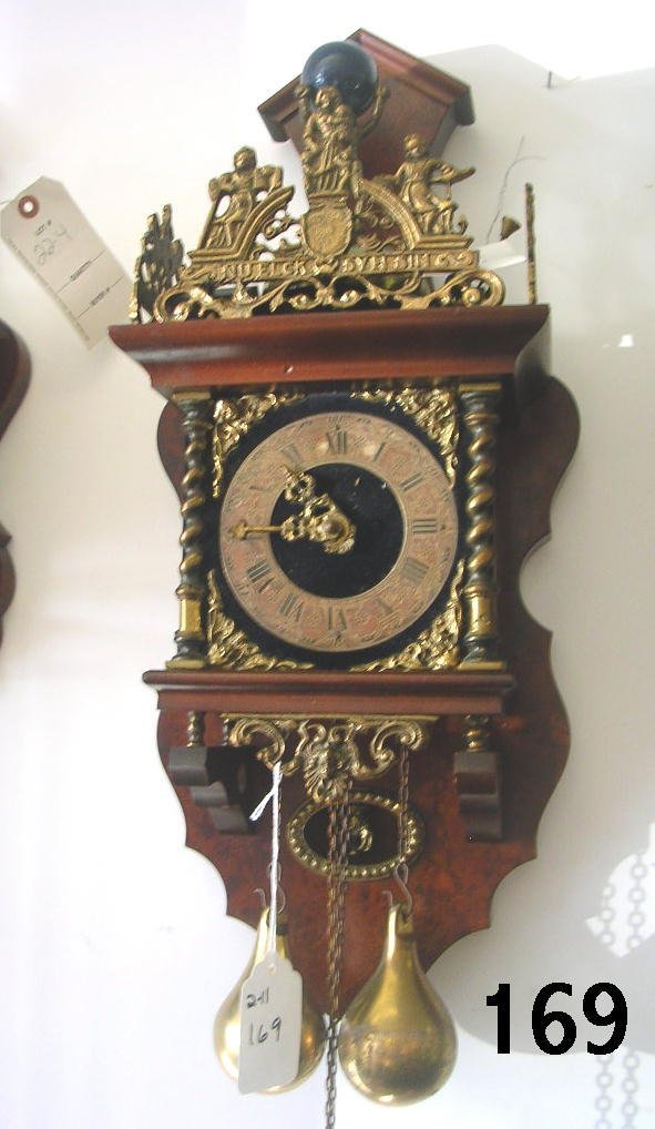 60169: DUTCH ZANDAAM NU ELCK SYN PENDULUM CLOCK HORSE