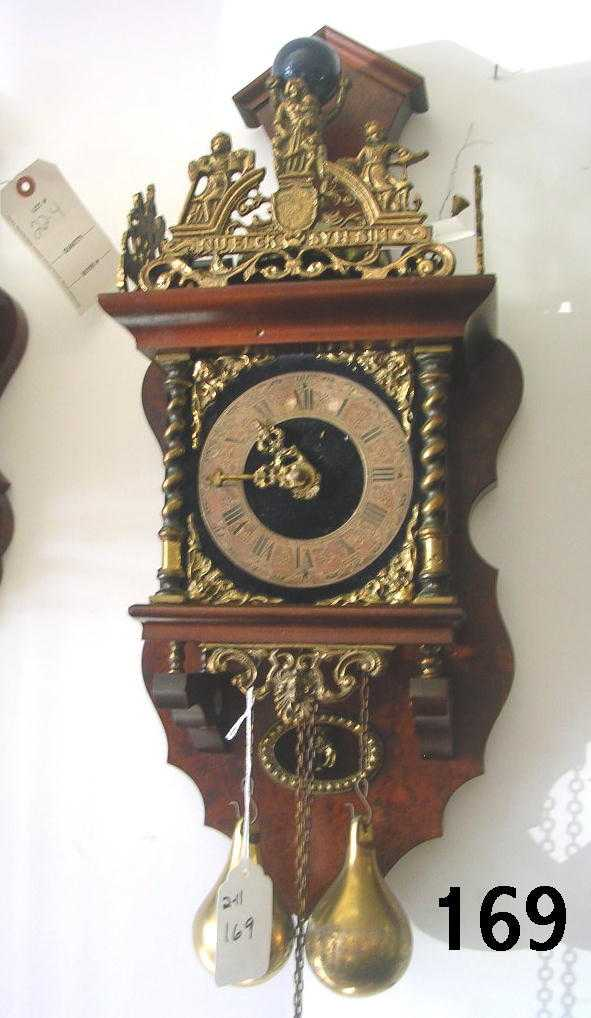 60169 Dutch Zandaam Nu Elck Syn Pendulum Clock Horse
