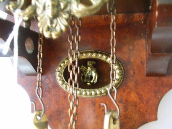 60169: DUTCH ZANDAAM NU ELCK SYN PENDULUM CLOCK HORSE - 4