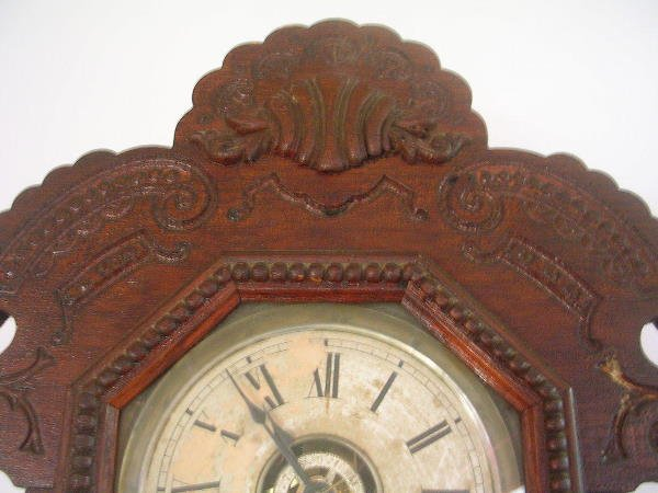 60176: ANTIQUE ATTLEBORO CLOCK CO MANTLE CLOCK - 2
