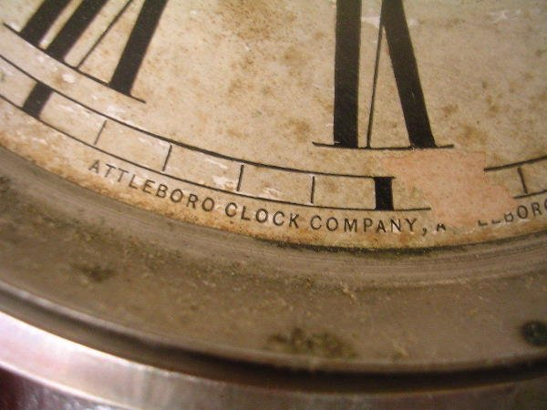 60176: ANTIQUE ATTLEBORO CLOCK CO MANTLE CLOCK - 4