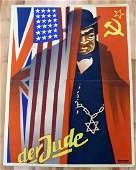 WWII GERMAN THIRD REICH ANTI SEMITIC POSTER