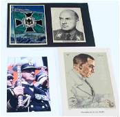 WWII GERMAN NSDAP LEADERS SIGNED POST & CLIPPING