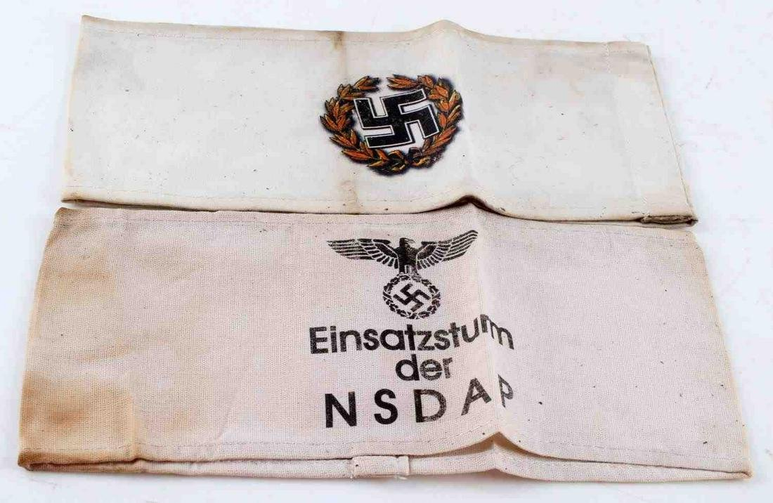 WWII GERMAN 3RD REICH NSDAP ARMBAND LOT OF TWO