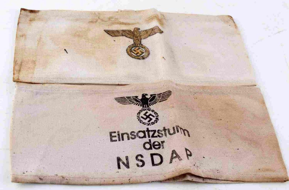 WWII GERMAN THIRD REICH NSDAP PARTY ARM BAND LOT