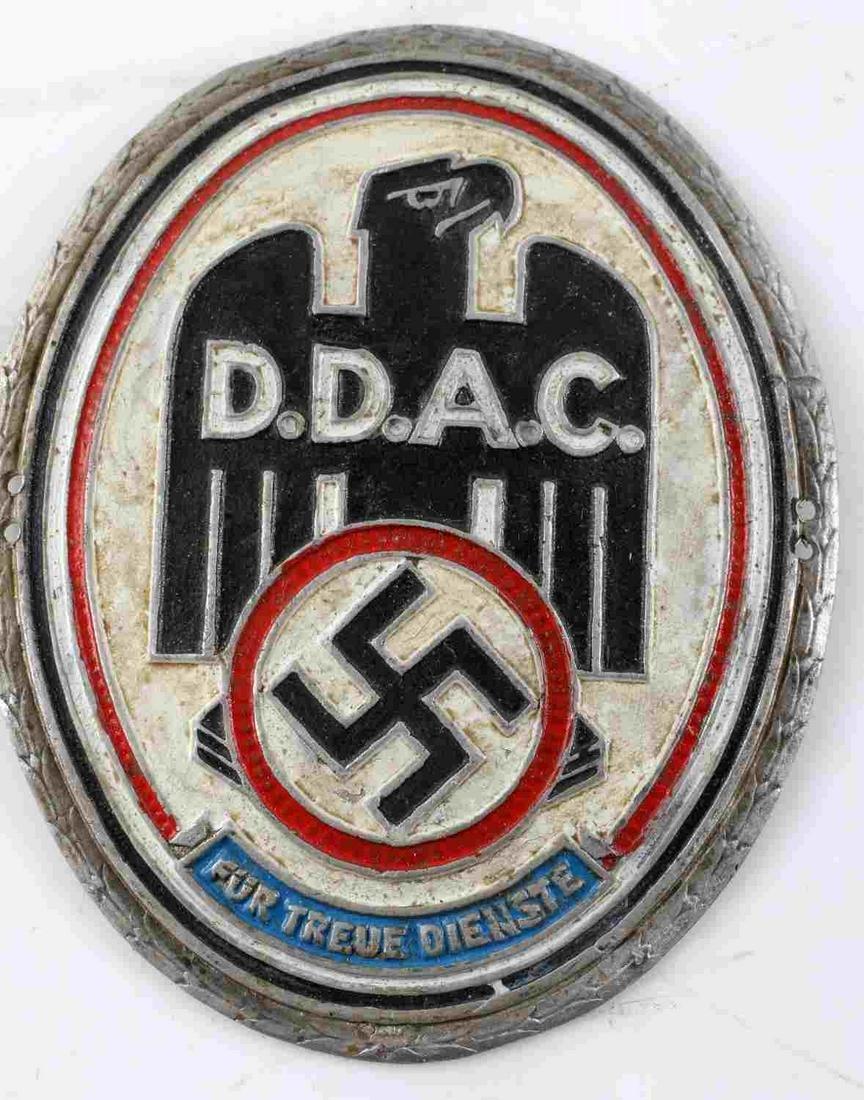 WWII GERMAN THIRD REICH DDAC AUTOMOBILE BADGE