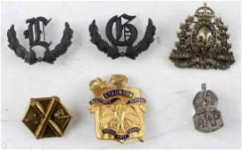 LARGE ASSORTED MILITARY ACADEMY TINNIE BADGE LOT 6