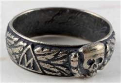 WWII GERMAN SS HONOR SILVER RING ENGRAVED