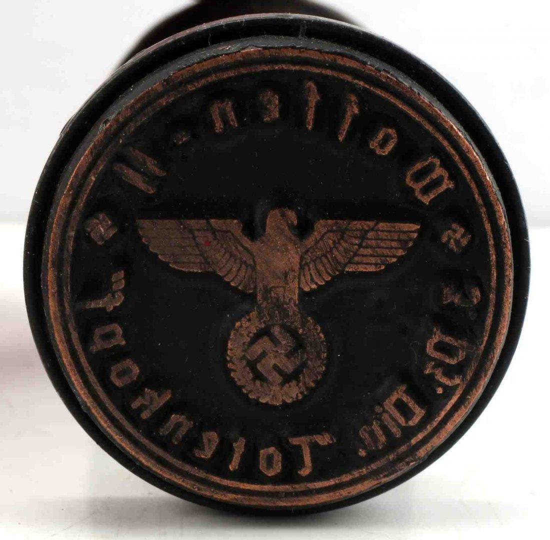 WWII GERMAN 3RD REICH WAFFEN SS TOTENKOPF STAMP