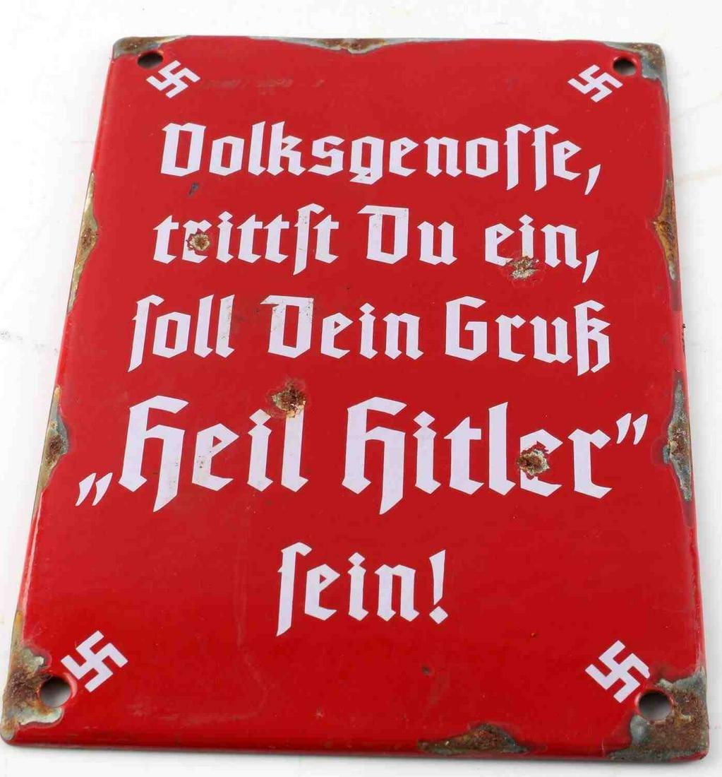 WWII GERMAN THIRD REICH PUBLIC PROPAGANDA SIGN