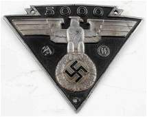 WWII GERMAN 3RD REICH SS SA MILITARY BIKERS PLAQUE