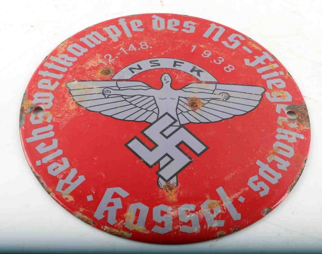 WWII GERMAN THIRD REICH 1938 NSFK PILOT HQ SIGN