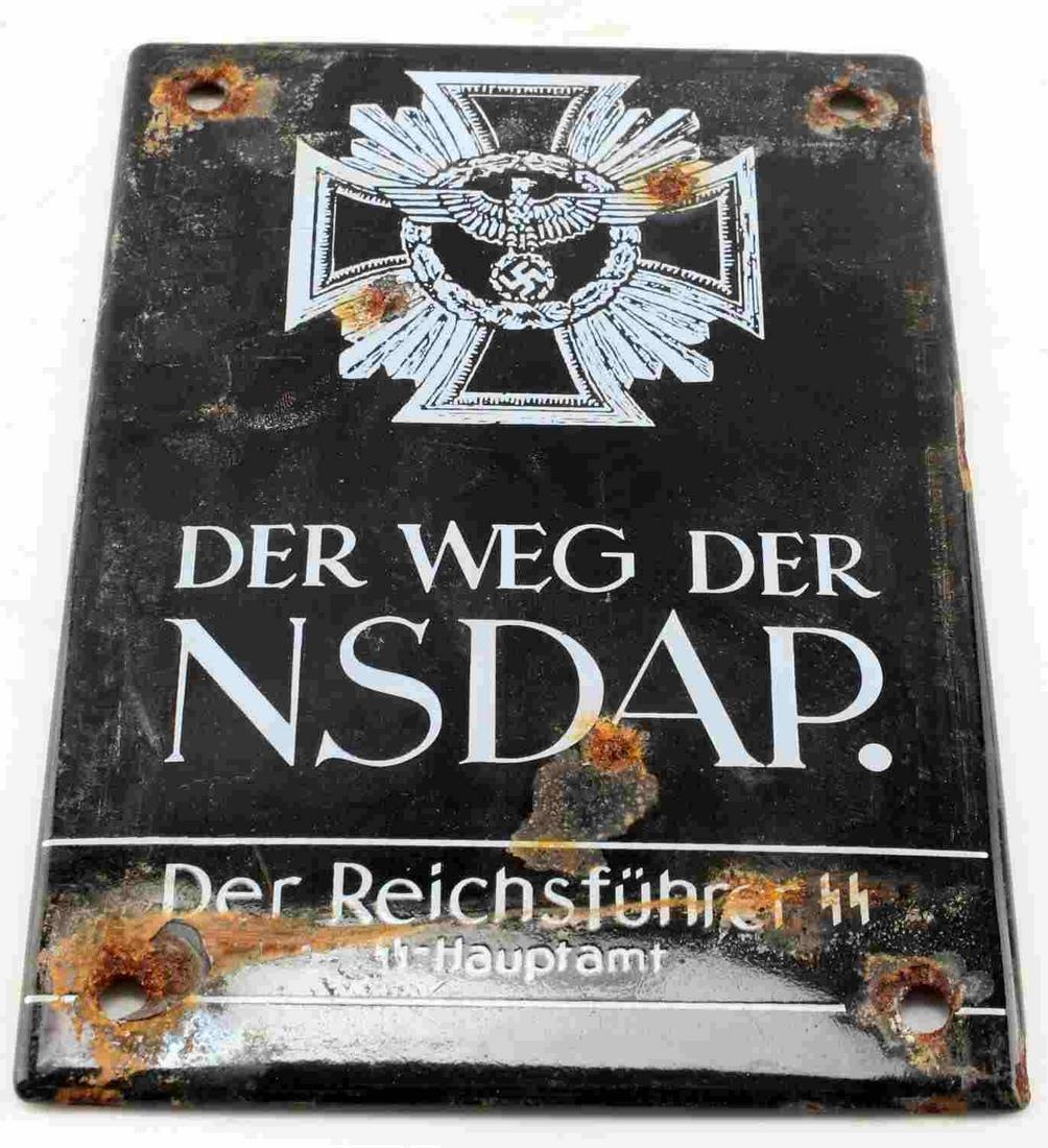 WWII GERMAN THIRD REICH NSDAP STREET SIGN