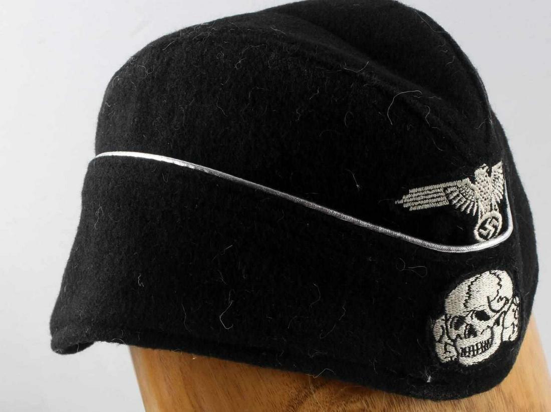 WWII GERMAN WAFFEN SS PANZER OFFICERS OVERSEA CAP