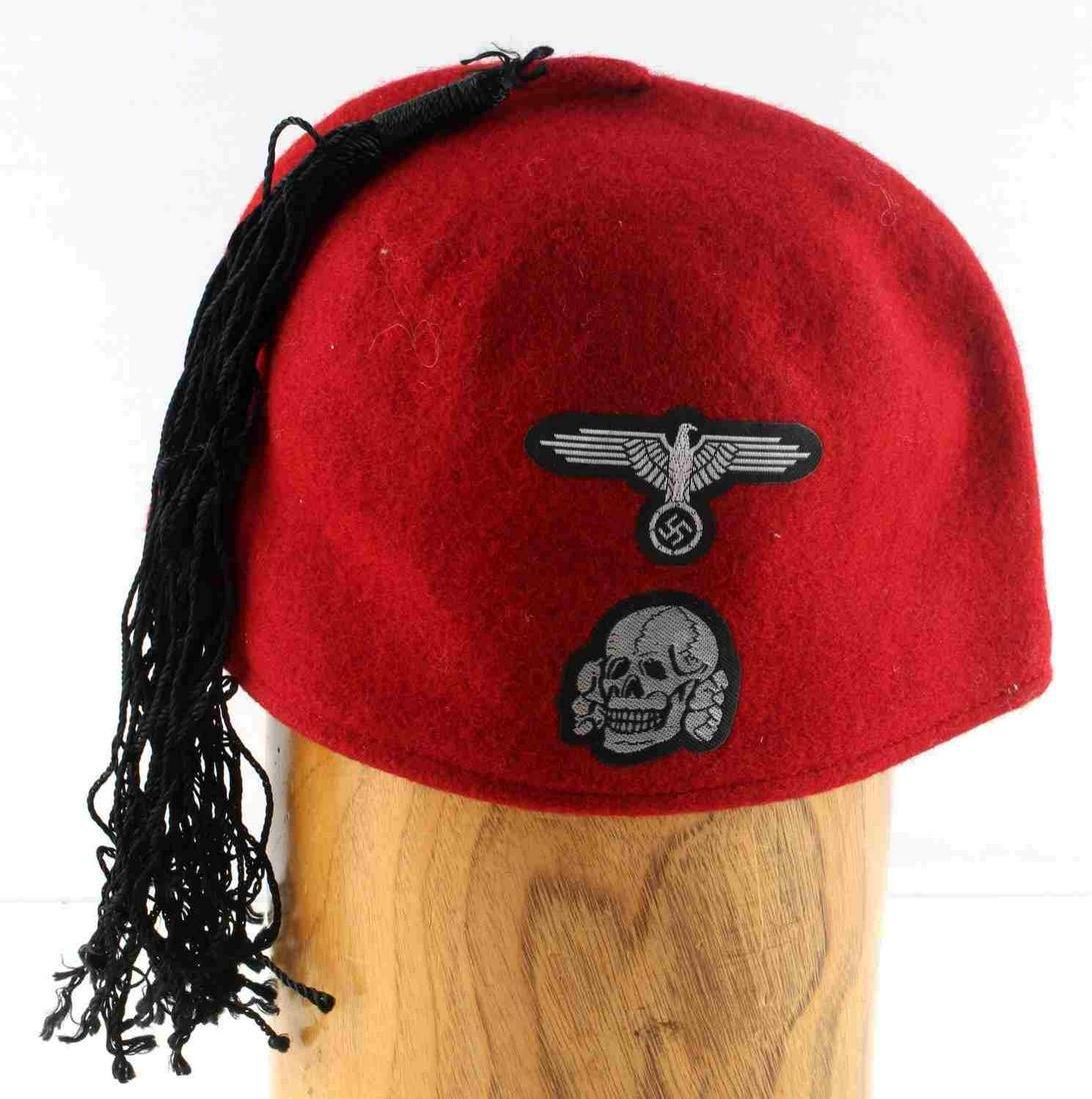 WWII GERMAN 3RD REICH MUSLIM SS VOLUNTEER FEZ CAP