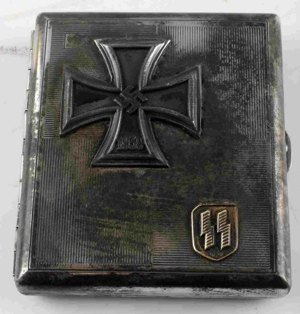 WWII GERMAN 3RD REICH SS IRON CROSS CIGARETTE CASE