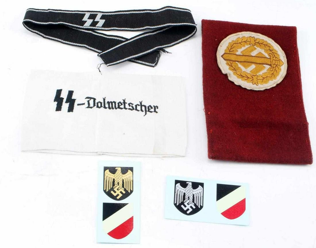 WWII GERMAN 3RD REICH SS ARMBAND CUFF TITLE LOT