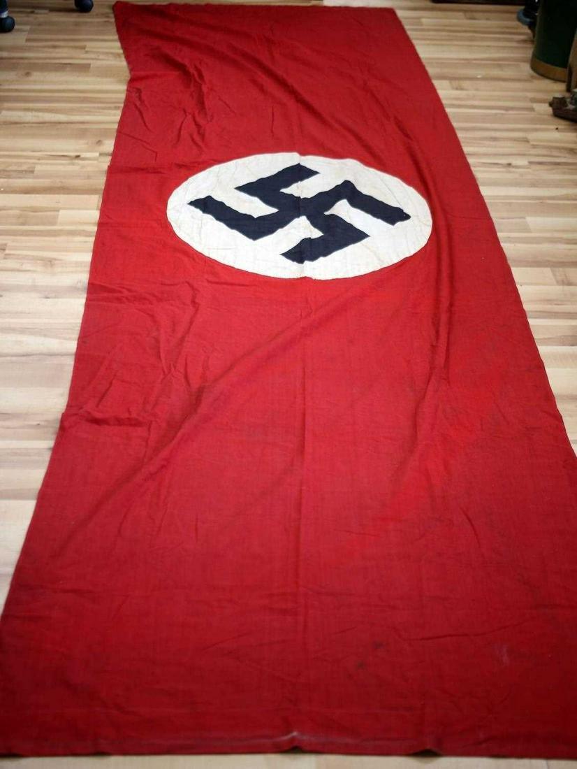 WWII THIRD REICH GERMAN BANNER FLAG 12 X 3 FOOT